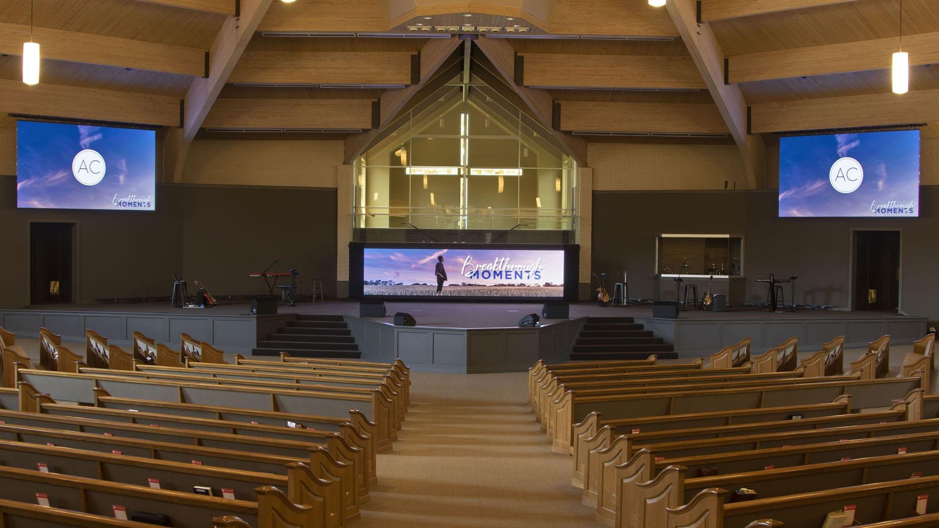 Neoti LED Video walls at Apostolic Church in Barberton Ohio
