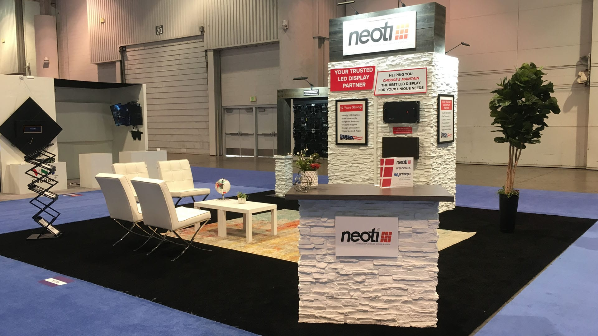 Neoti Infocomm 18 trade show booth