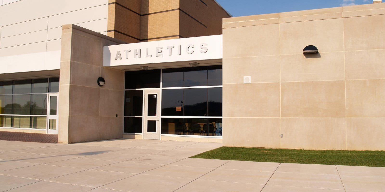 Athletic facility exterior