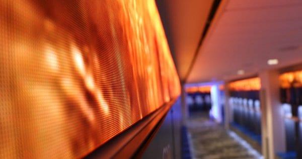 Neoti LED video panels at Kansas University football locker room