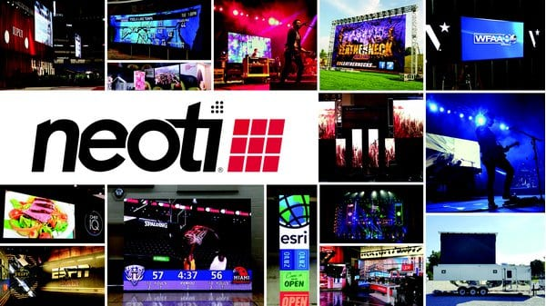 Neoti LED Video Display collage