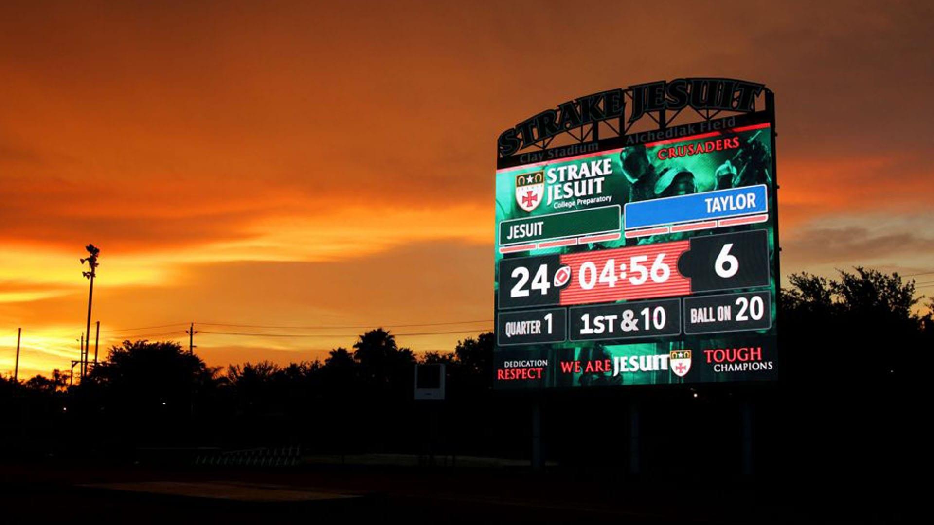 Neoti video panels football scoreboard