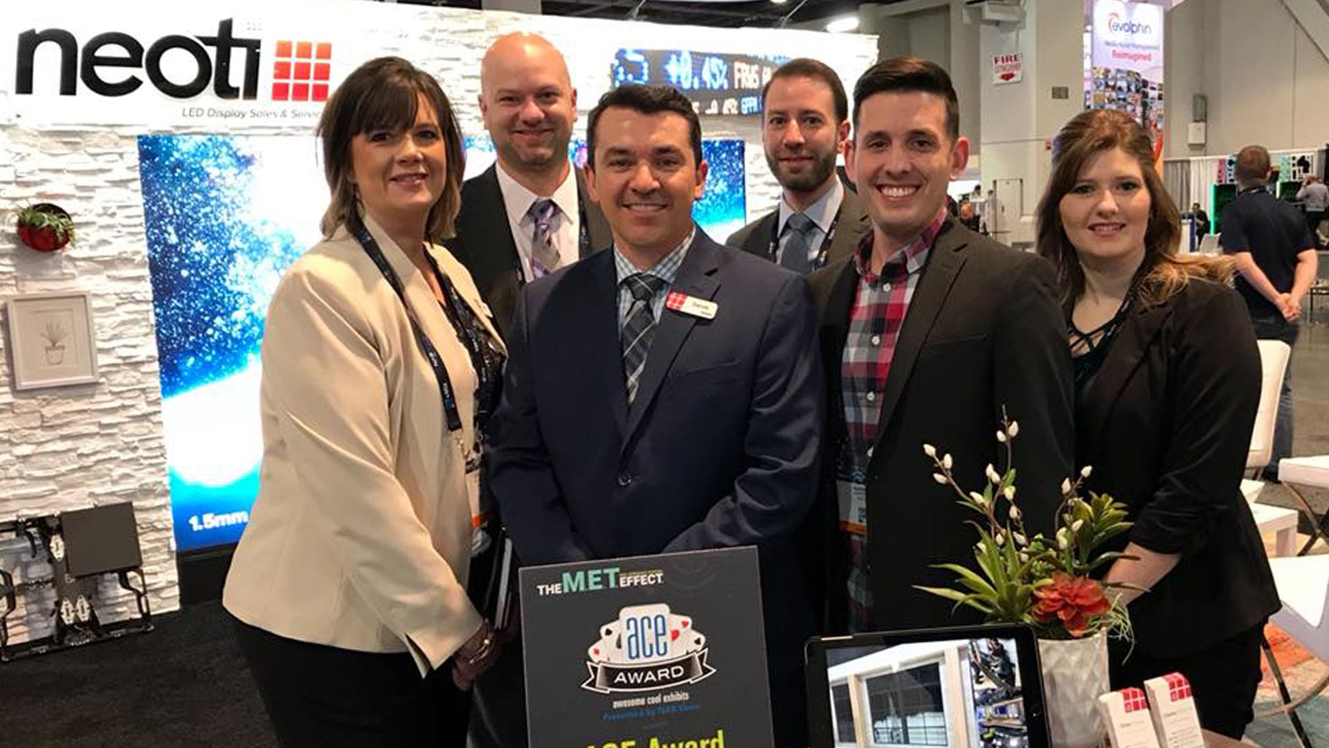 Neoti staff at NAB Las Vegas 2018 trade show