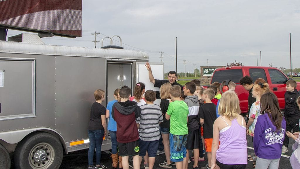 Neoti volunteers at Lancaster Elementary Career Day