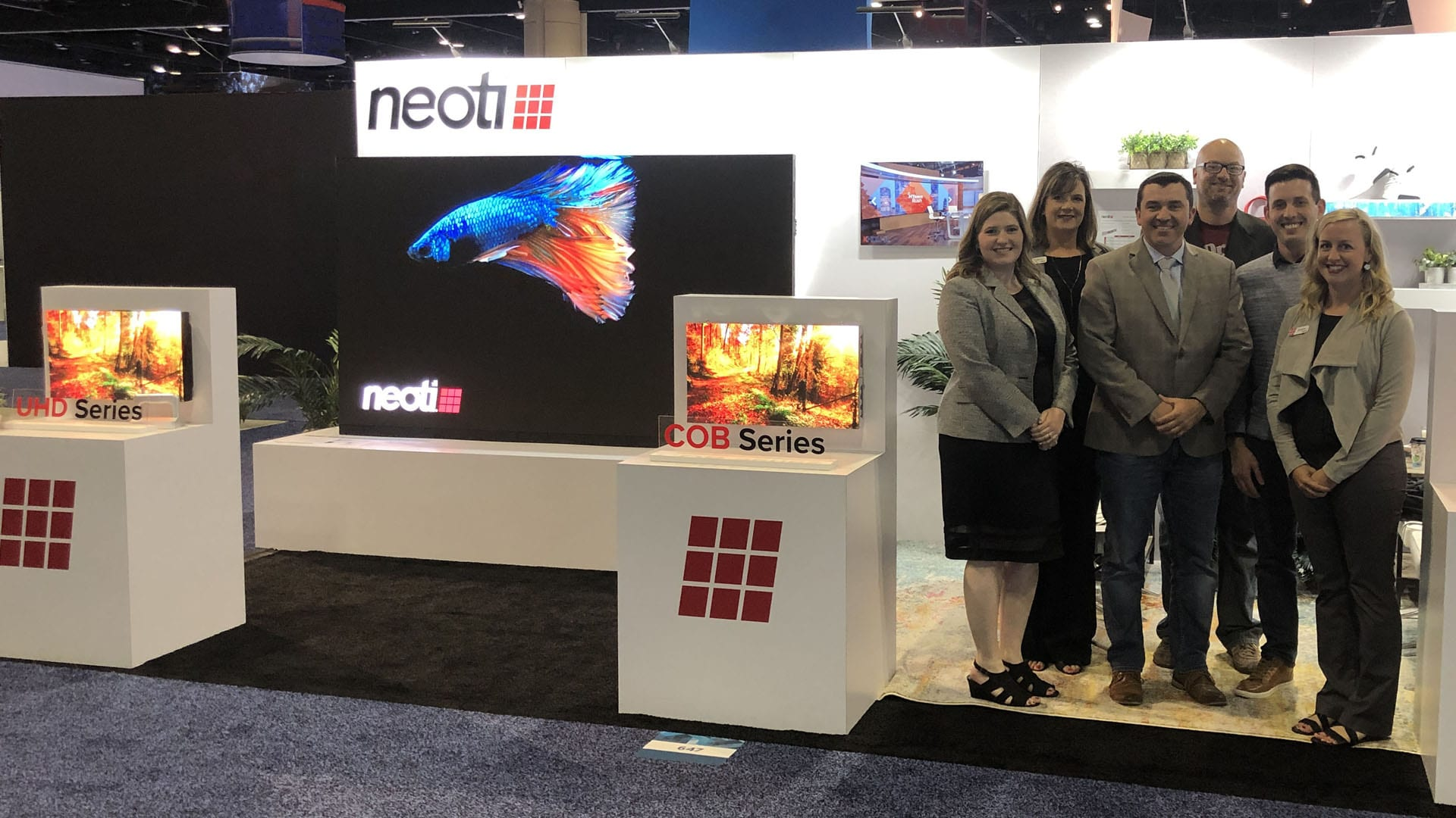 Neoti staff at Infocomm19 in Orlando Florida