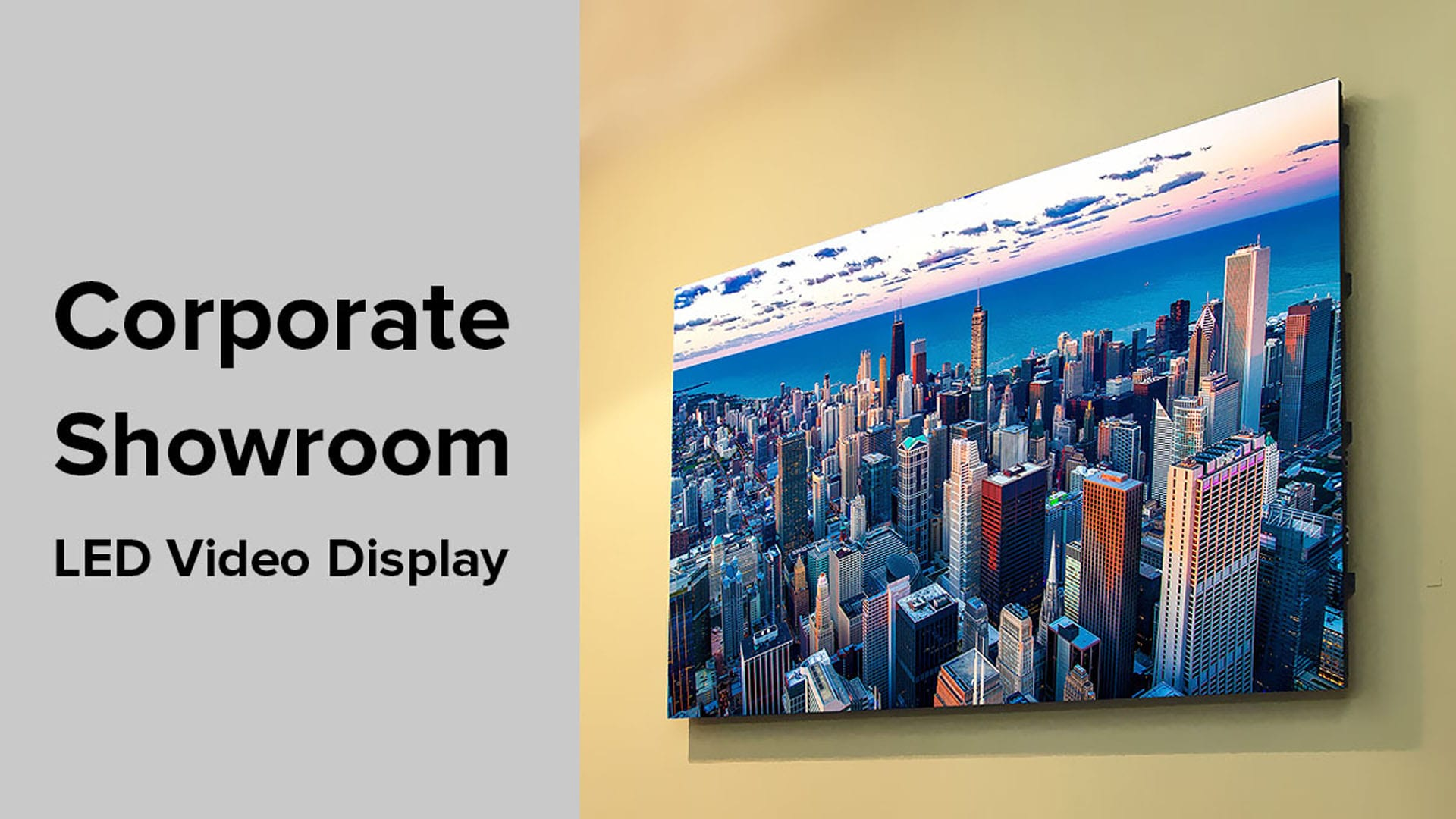 Corporate Showroom LED Display in Chicago