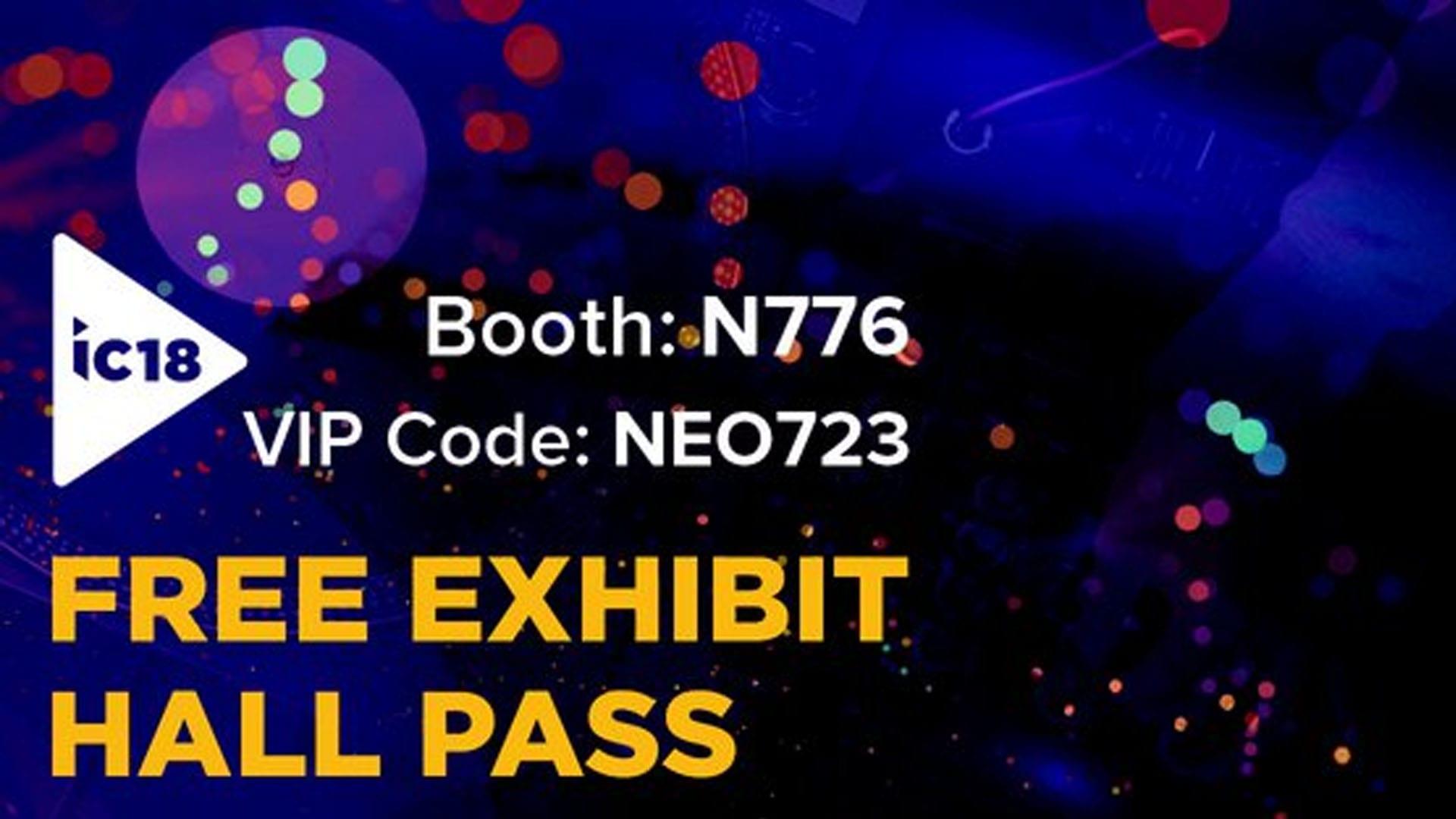 InfoComm 2018 Free Pass Booth N776 VIP Code NEO723
