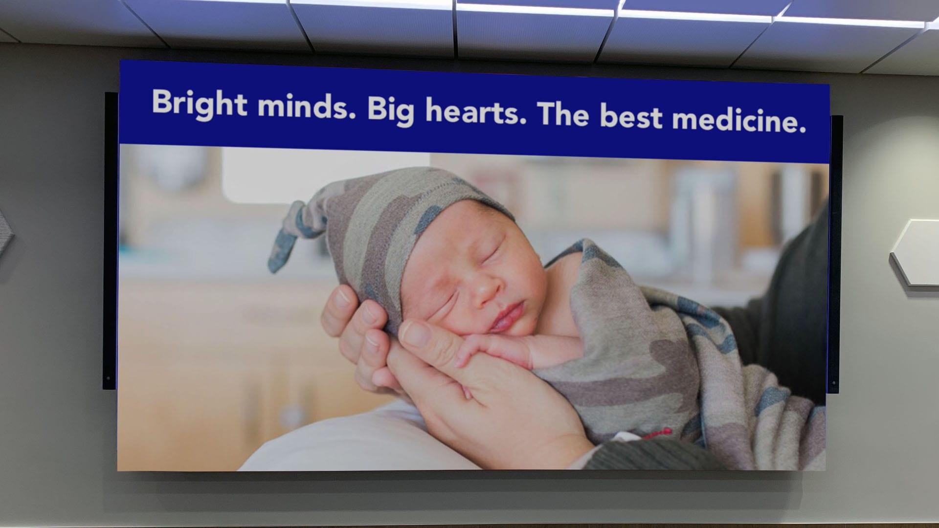 Hospital conference room LED display